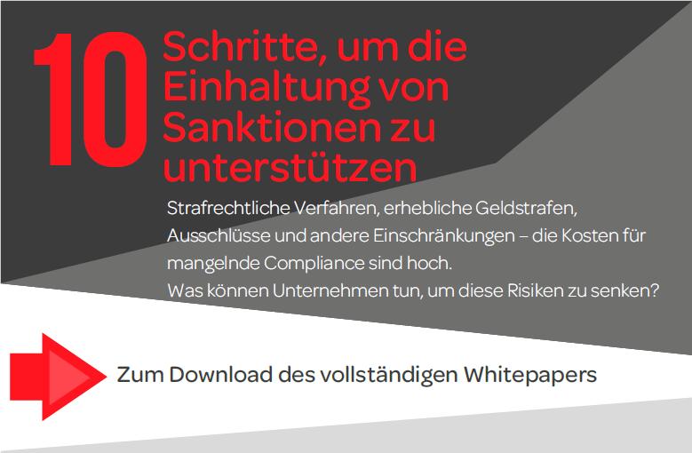 Whitepaper: 10 Schritte, um die Einhaltung von Sanktionen zu unterstützen