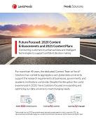 Future Focused: 2020 Content Enhancements and 2021 Content Plans