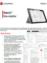 Nexis Newsletter Kurzanleitung