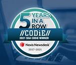 Ausgezeichnet: Nexis Newsdesk™ gewinnt die SIIA CODiE Awards zum fünften Mal in Folge – Mit der Branchenauszeichnung beweist LexisNexis Newsdesk® seinen Media-Intelligence-Erfolg