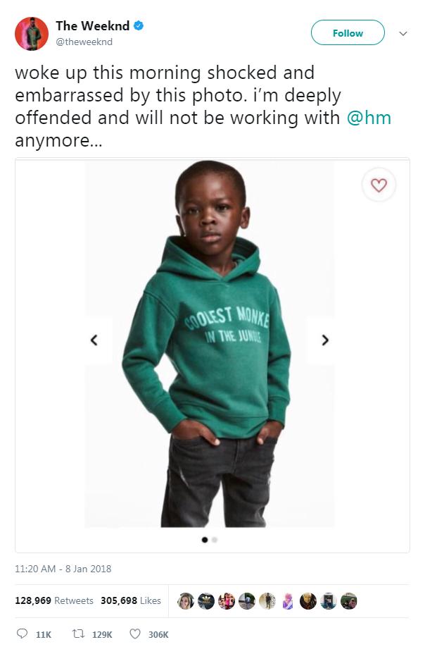 Reaktion The Weeknd auf H&M Skandalpullover