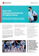 Factsheet Nexis Uni