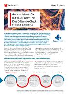 Broschüre zur Automatisierung von Due Diligence Checks in Nexis Diligence mit Blue Prism