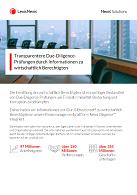 Factsheet Due-Diligence-Prüfungen durch Informationen zu wirtschaftlich Berechtigten