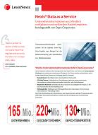 Broschüre über die Zusammenarbeit von LexisNexisData und OpenCorporates