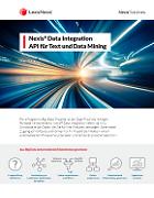 Broschüre zum Data Integration Angebot von LexisNexis für Hochschulen