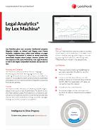 Factsheet Legal Analytics by Lex Machina