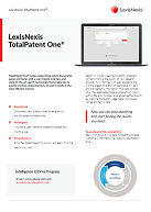 Factsheet LexisNexis TotalPatent One
