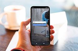 Die Nexis News Search App auf dem Handy