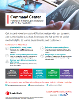 Command Center of LexisNexis Social Analytics - live data visualization