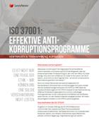 ISO 37001: Effektive Anti-Korruptionsprogramme