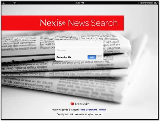 Nexis News Search App