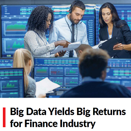 Download Whitepaper: Big Data Yields Big Returns for Finance Industry