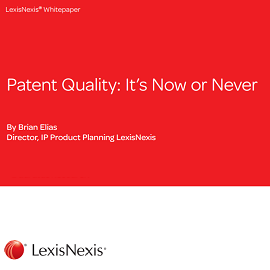 Whitepaper: Patent Quality: It´s Now or Never